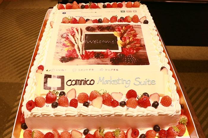 コムニコ画面ケーキ