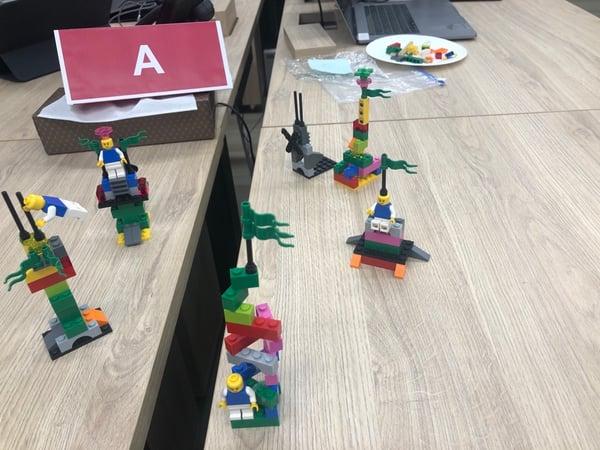 Aチームのタワー作品