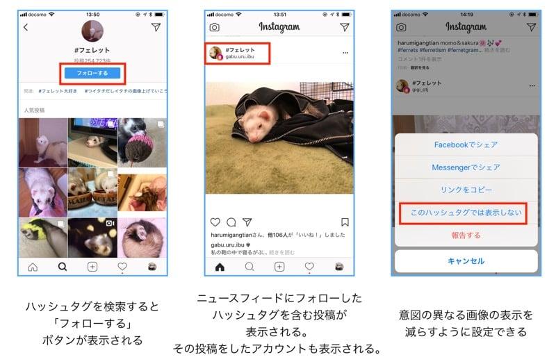 Instagramのハッシュタグをフォローする方法