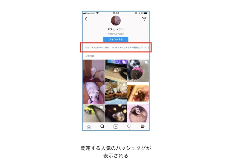 Instagramハッシュタグを検索