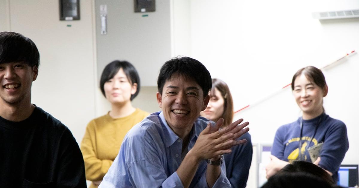 M.R.P.発表時に笑顔を見せる代表の林
