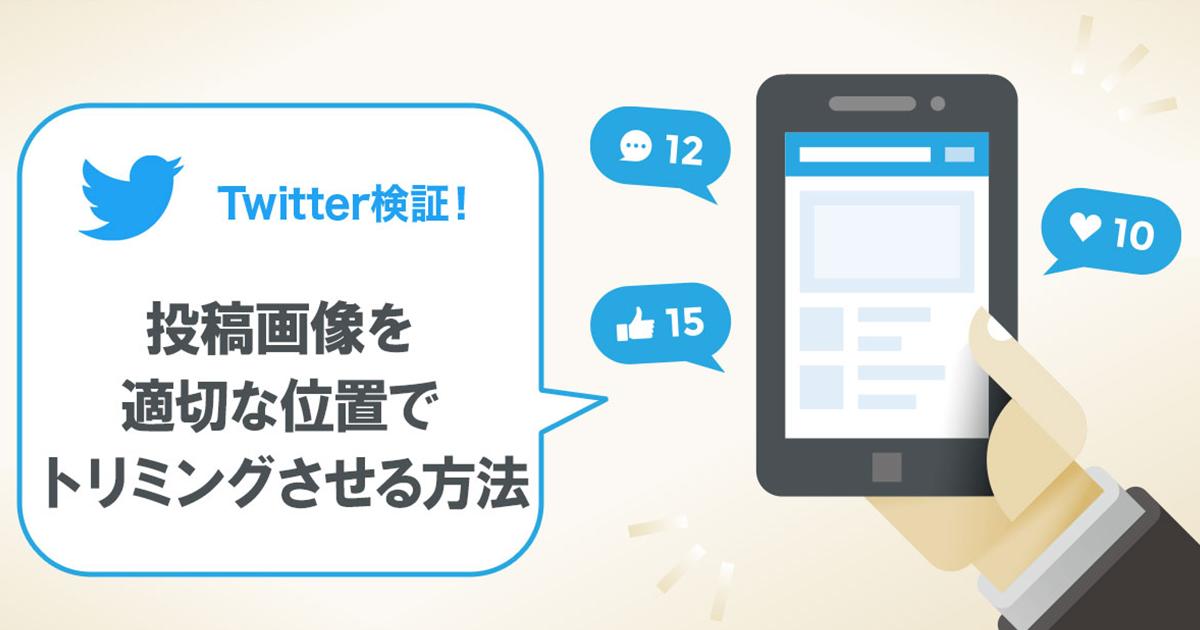 【Twitter検証!】投稿画像を適切な位置でトリミングさせる方法