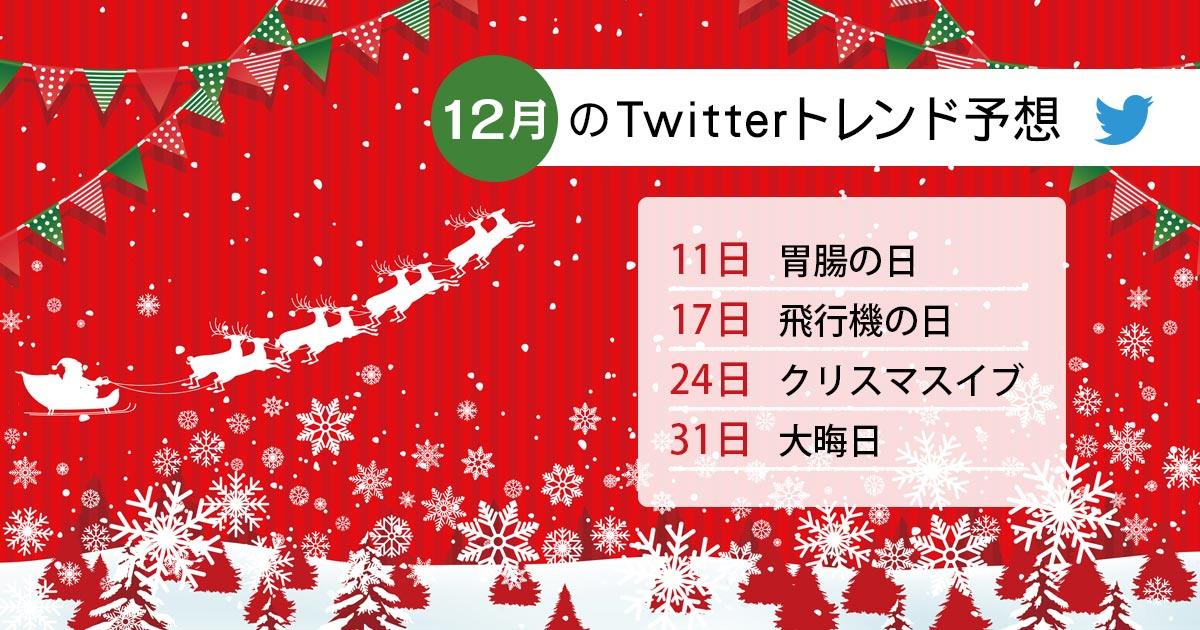 2020年12月にTwitterでトレンド入りするキーワード・ハッシュタグは?昨年データから予想!